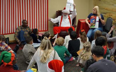 Santa at the Listen Foundation